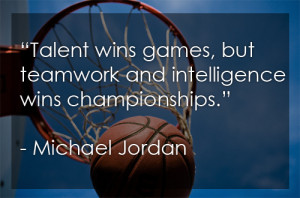 Michael Jordan Quote on Winning and Team Work