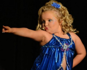 ... being with her family . (pageant announcer introduces Honey Boo Boo