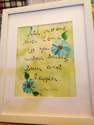 ... 8x10 watercolor painting of mother teresa quote on Etsy, $22.00