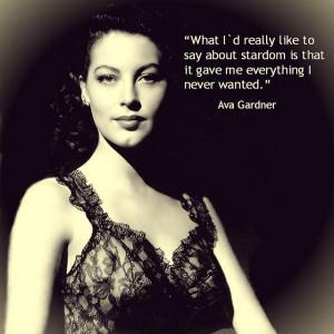 ... Screens, People, Actor Quotes, Gardner 19221990, Ava Gardner Quotes