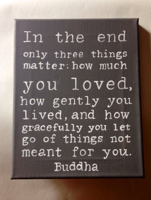 Buddha Quote Hand Painted Wall Art
