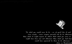Alice In Wonderland Quotes Tumblr -alice quote background-