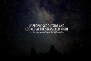 Stargazing at Night …