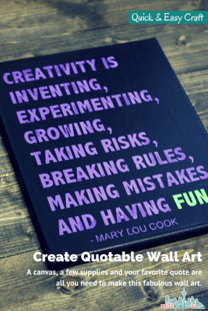 Quote Canvas Art DIY – Easy to Make Quotable Wall Hanging