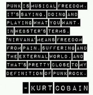 ... punk rock, quote, quotes, black & white, band quotes, kurt cobain