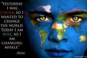 EmilysQuotes.Com - amazing, great, wisdom, change, Rumi, clever, wise ...