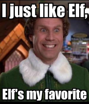 just like elf elfs my favorite Buddy The Elf Wallpaper