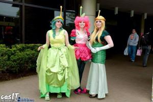 Slime Princess, Wildberry Princess and Turtle Princess cosplay