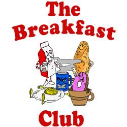 Cartoon Breakfast Food Breakfast club food t-shirt