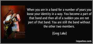 in collection band band members quotes