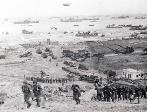 WW2 D Day Invasion On Omaha Beach