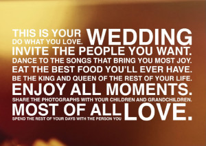 Wedding Quote for Brides + Grooms