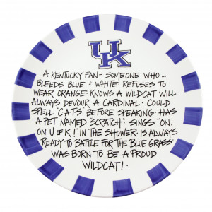 University-of-kentucky-wildcats-plate-hand-painted-ceramic-kentucky ...