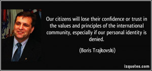 will lose their confidence or trust in the values and principles ...