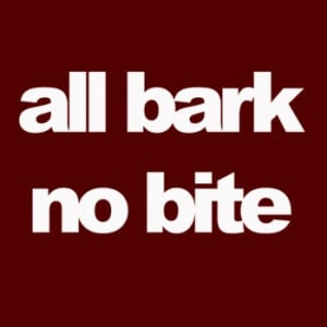 "Xzibit references the common American idiom "" All Bark and No Bite ..."