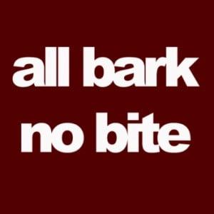 "Xzibit references the common American idiom "" All Bark and No Bite ..."