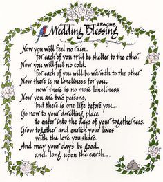 native american wedding blessing | apache wedding blessing native ...