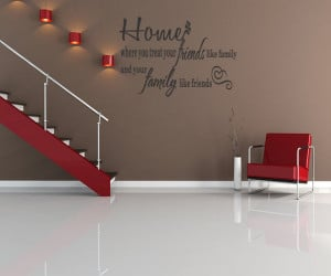Large Quote Home Family Kitchen Wall Mural Art Sticker Graphic Quote ...