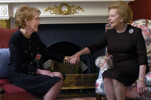 Nancy Reagan and Margaret Thatcher
