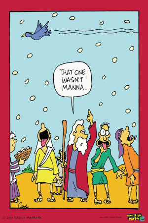 Funny christian posters – That one wasn't manna
