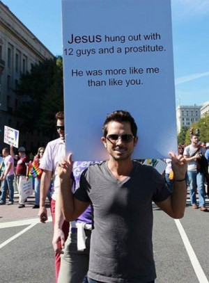 Gay Guys = Hilarious Protesters