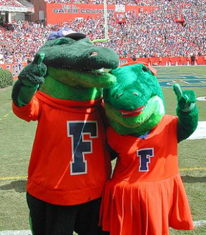 The University of Florida's mascots, Albert and Alberta .