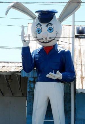 ... Rabbit Aka, Rabbit Statues, Stations Statues, Plays Harvey, Harvey