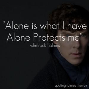 ... : alone, sherlock, sherlock holmes, benedict cumberbatch and quote