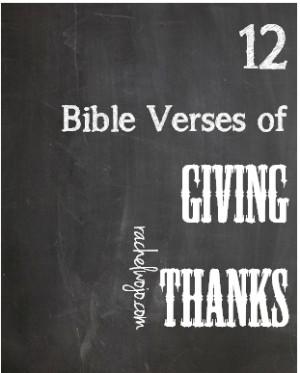 Printable Thanksgiving Bible Verse Cards