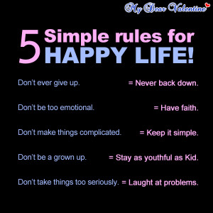life quotes - 5 simple rules for happy