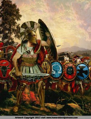 Ancient Greek Spartans Warriors
