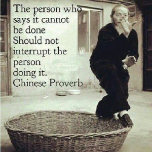 Great Chinese proverb