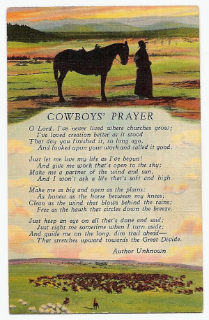 cowboy prayers and quotes