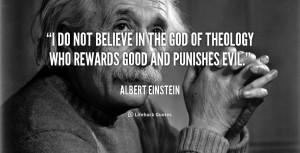 Albert Einstein Quotes God Evil