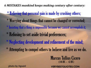 ... refinement of the mind; Attempting to compel others to believe and