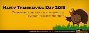 Happy Quotes Facebook Covers Happy thanksgiving day 2013