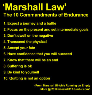 commandments of endurance brilliant advice from legendary endurance ...