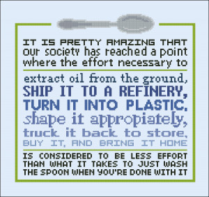 ... Products Cross Stitch Patterns Various Quotes Wash the spoon (quote