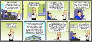 Good Dilbert Comic about Goal Setting with your Manager