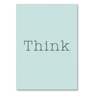 Think Quotes Blue Aqua Inspirational Thought Quote Business Cards