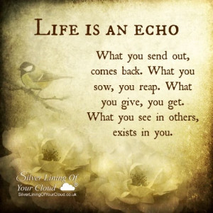 ... Quotes Inspiration, Fantastic Quotes, Wisdom, Echo, Reap What You Sow