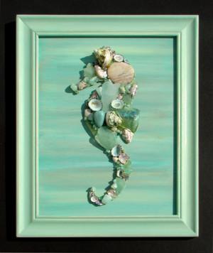 Mosaic Seahorses and Mermaids