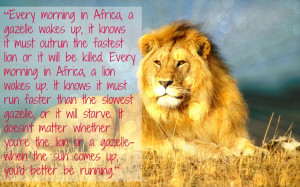 Motivation Monday! Are you a Lion or a Gazelle?