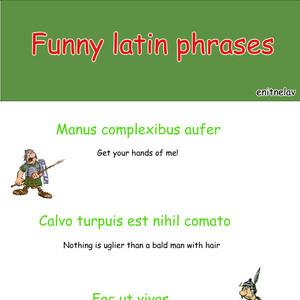 Funny Latin Phrases