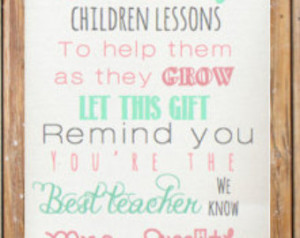 Preschool Teacher Appreciation Poems Personalized teacher poem