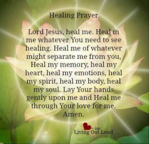healing prayer, prayer for healing, God heals
