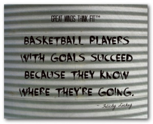 Basketball players with goals succeed because they know where they're ...