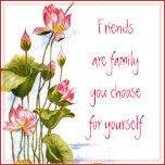 Vintage - Pink Water Lilies & Friends Quote