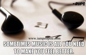 Music quote via www.IamPoopsie.com