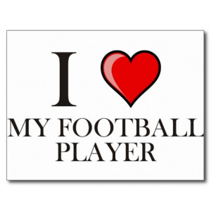 Love My Football Player Postcard